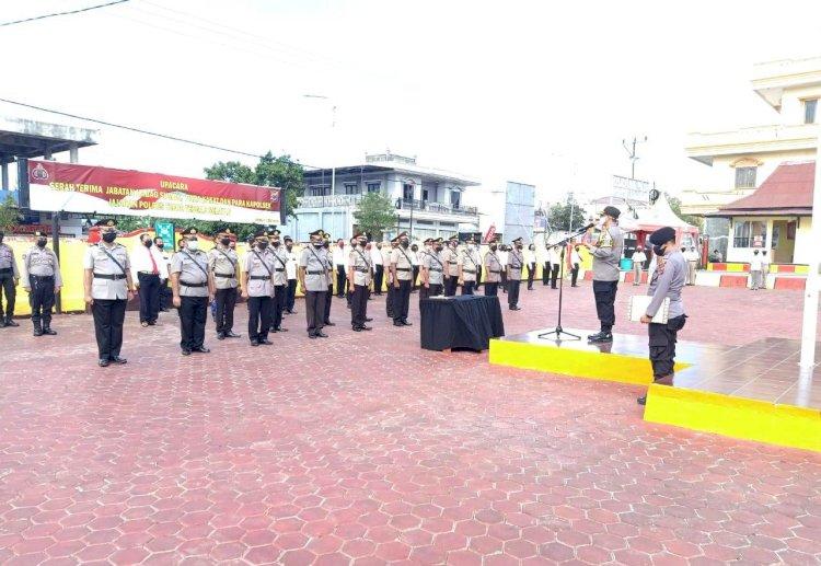 Kapolres TTS Pimpin Sertijab Kabag, Kasat  Dan Kapolsek   Jajaran Polres TTS