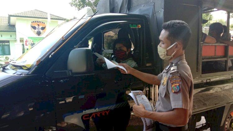 Cegah Penyebaran Covid-19, Polsek Amanuban Selatan Gencar Sosialisasikan Maklumat Kapolri