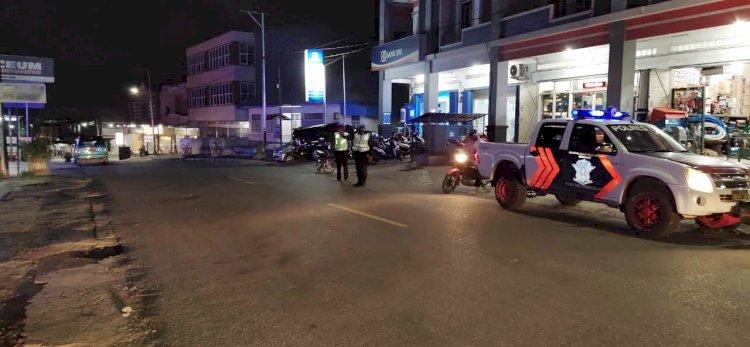 Patroli Malam Sat Lantas Polres TTS
