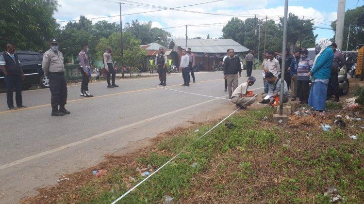 Pengukuran Pengembalian Batas Tanah,  Sejumlah Personil Polres TTS Dikerahkan Melaksanakan Pam