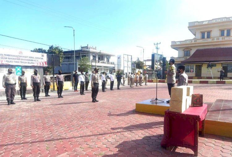 Bhakti Sosial Serentak, Kapolres TTS Memimpin Langsung Upacara Pemberangkatan