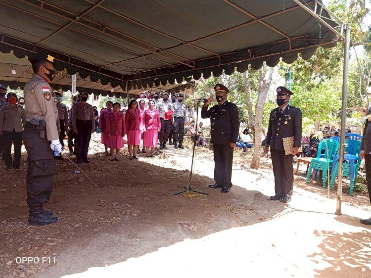 Waka Polres TTS Pimpin Upacara Pemakaman  Almarhum Purnawirawan Polri