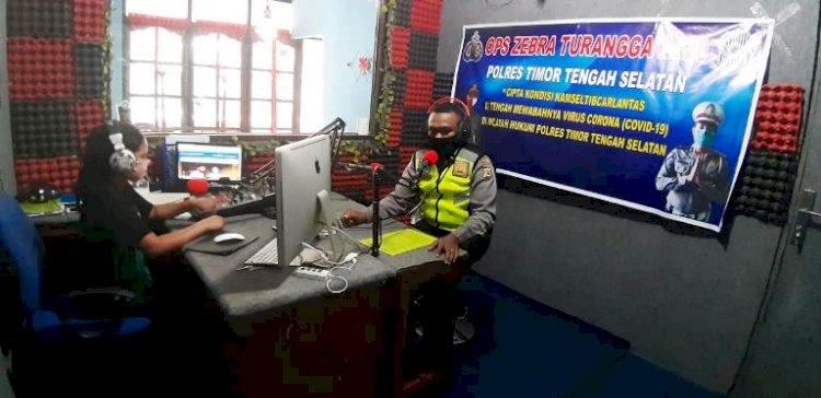 Operasi Zebra Turangga 2020, Sat Lantas Polres TTS Melalui Radio