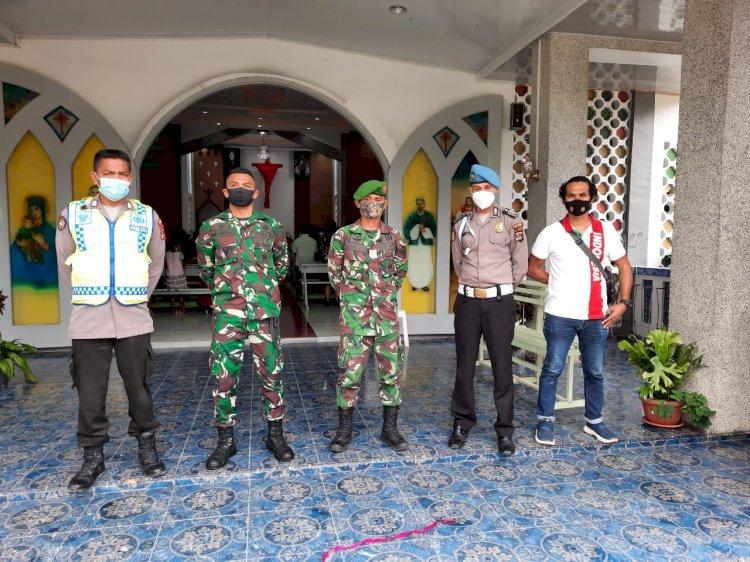 Personil Polres TTS Melaksanakan Pengamanan Ibadah Paskah