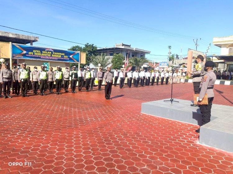 Dimulai Operasi keselamatan Ranakah -2021, Polres TTS Gelar Apel Gelar Pasukan
