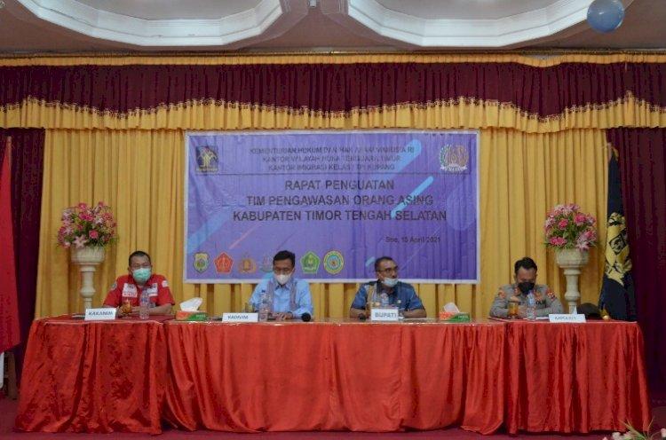 Kapolres TTS hadiri Rapat penguatan TIMPORA