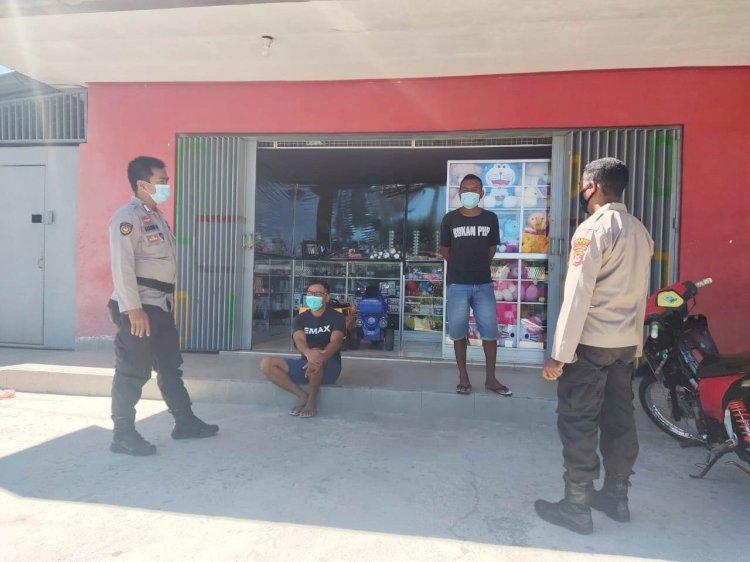 Rutin Melaksanakan Patroli, Personil Polsek Abanteng Imbau Warga Disiplin Patuhi Prokes