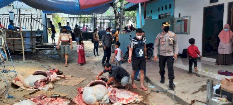 Monitoring Tempat Penyembelihan Hewan Kurban, Waka Polres TTS Imbau Tetap Patuhi Prokes