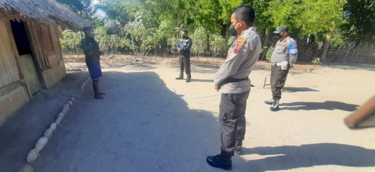 Kapolsek Amanuban Selatan Kunjungi Warga Isoman