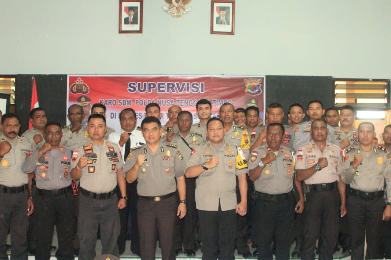 Supervisi Karo SDM Polda NTT  Ke Polres TTS