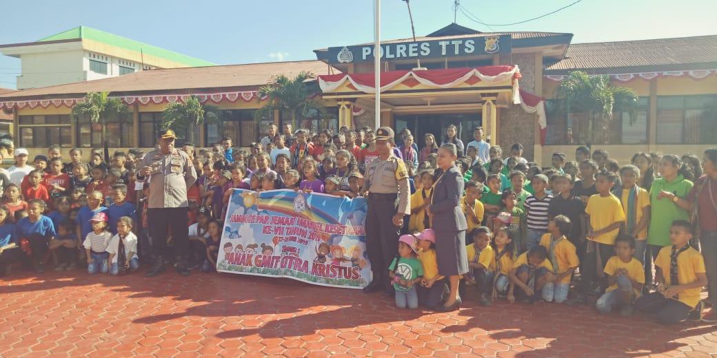 Par GMIT Jemaat Imanuel kesetnana Kunjungi Polres TTS