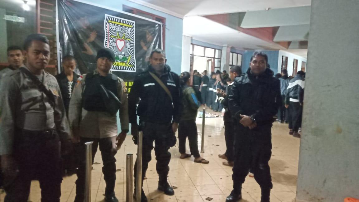 Personil Polres TTS Gelar Pengamanan Kegiatan Perguruan PSHT