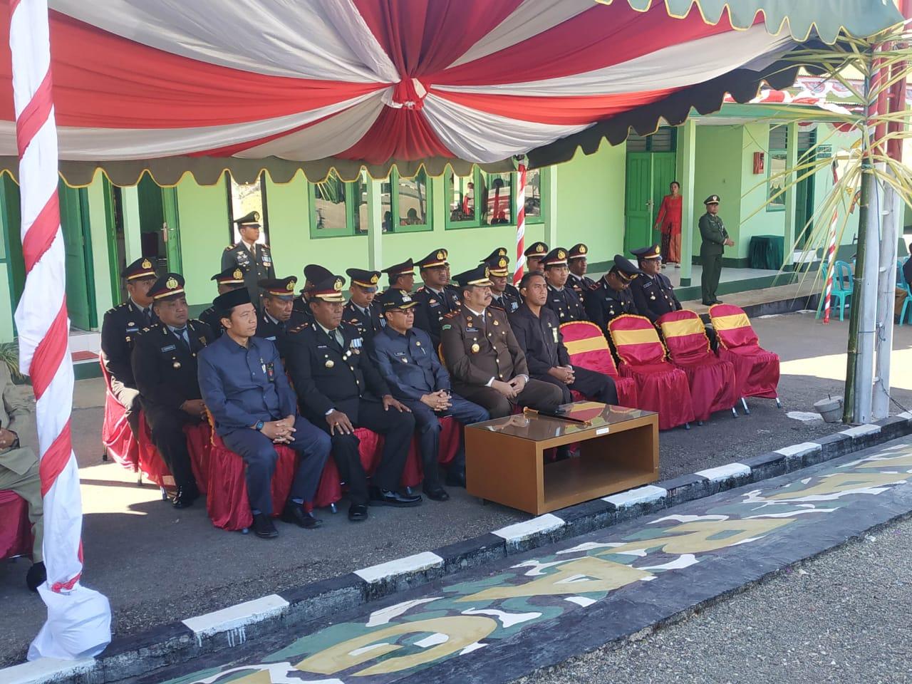 Waka Polres TTS Hadiri Upacara  HUT TNI ke 74 di Kodim 1621 TTS