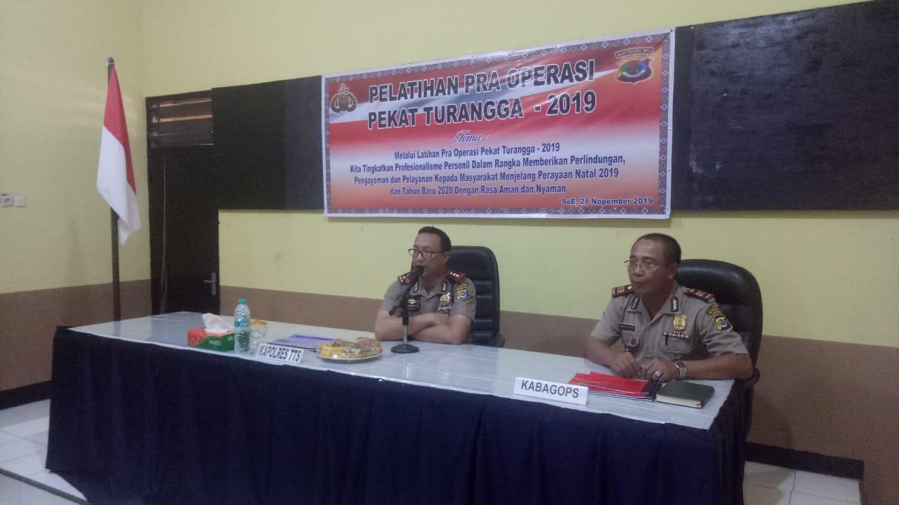 Jelang Operasi Pekat Turangga 2019, Polres TTS Gelar Lat Pra Ops
