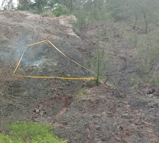 Diduga Sumburan Asap Panas  Berbahaya, Polsek Mollo Utara Pasang Police Line