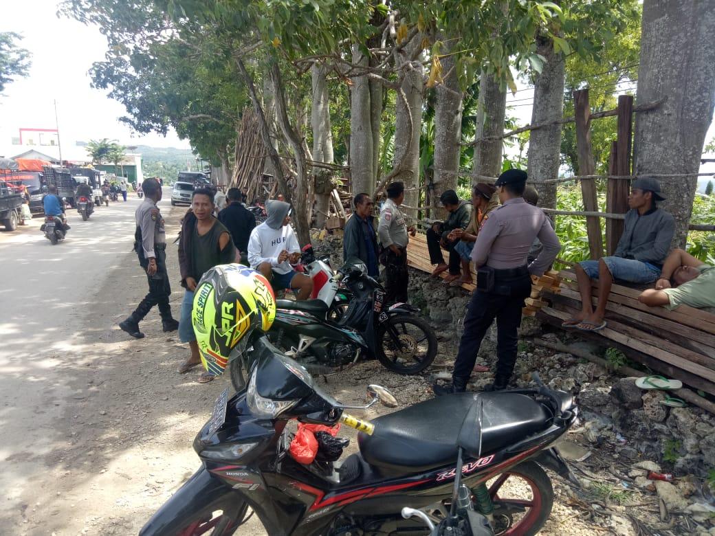 Cegah Kriminalitas,   Sat Sampta Polres TTS Gelar patroli Dialogis